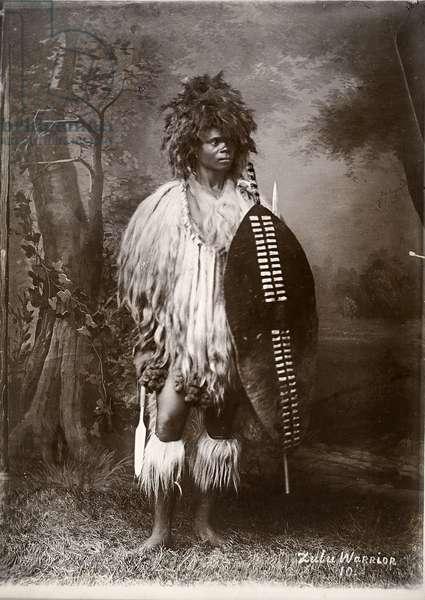Zulu warrior (gelatin silver print)