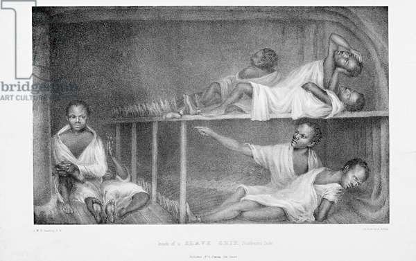 Inside of a Slave Ship, Starboard Side, printed by A. Hoffay, 1830s (litho)