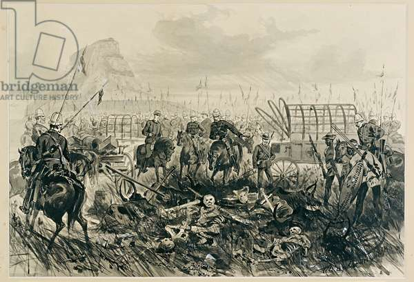 Aftermath of the Battle of Insandlwana, 21 May 1879 (wash on paper)