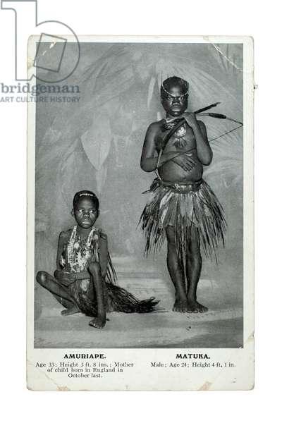 Amuriape and Matuka, London, c.1905 (litho)