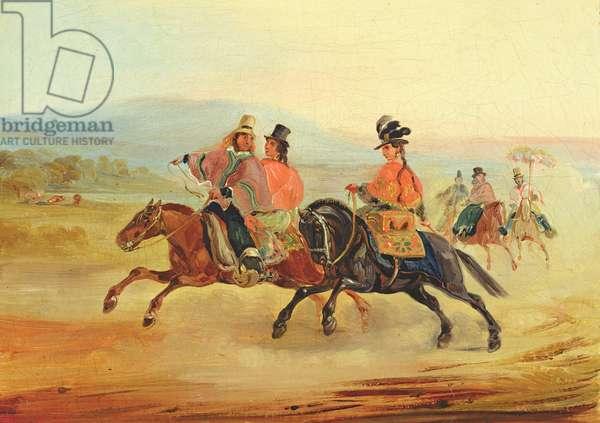 Chilean Riders, c.1835-36 (oil on canvas)
