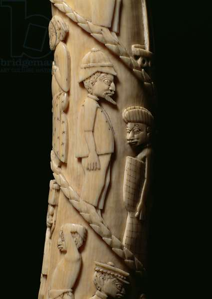 Carved Tusk, Congo (ivory) (detail of 223943)