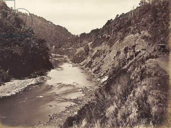 Manawatu Gorge 1 Mile From Bridge, 1878 (albumen print)
