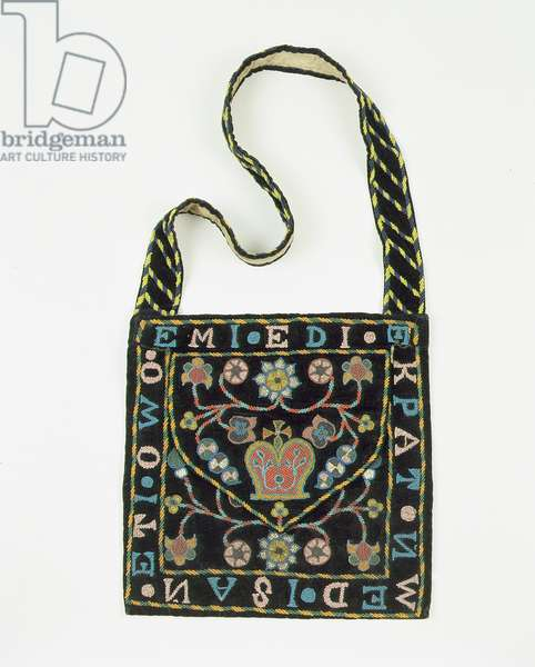 Beaded bag, late 19th century, Nigeria (cloth & velvet)