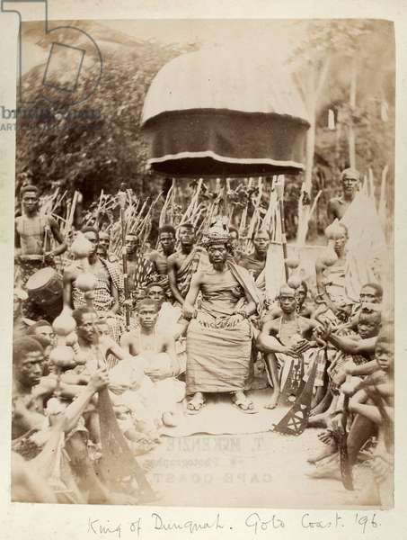 King of Dunquah, Gold Coast, Ghana, 1896 (albumen print)