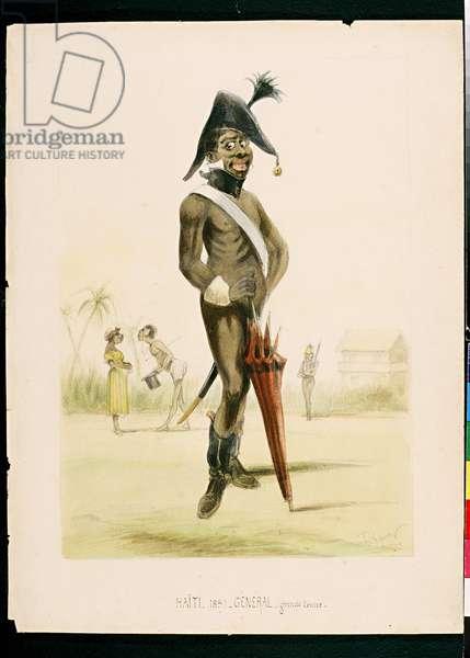 Haiti 1859 - General in full dress (pencil & w/c on paper)