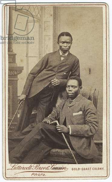 Double portrait, 1880s (albumen print)