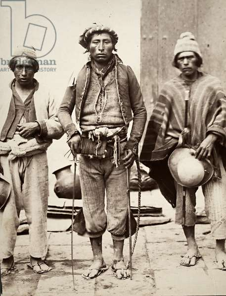 Men, possibly from Bolivia (albumen print)