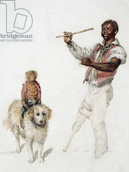 The entertainer, c.1870 (w/c on paper)