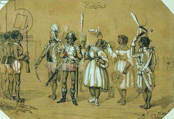 Haiti, c.1840 (pencil and w/c on paper)