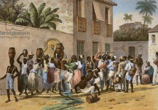 Water Carriers, engraved by Deroi, pub. by Engelmann and Company, Paris, 1835 (hand coloured litho)