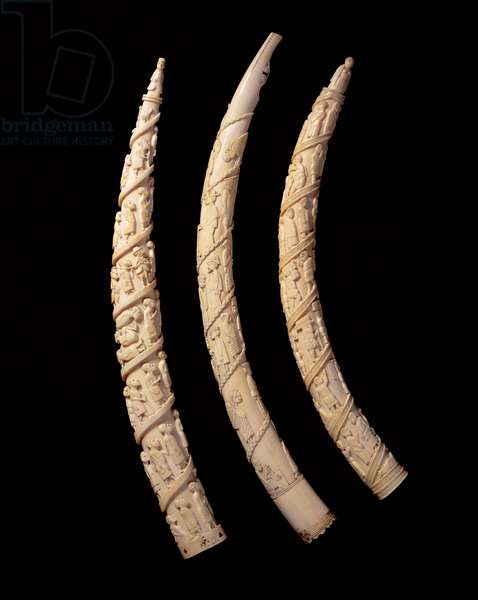 Carved Tusks, Congo (ivory)
