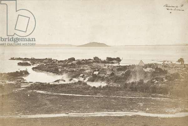 Ohinimutu, Lake Rotorua, mid 1860s (salt print)