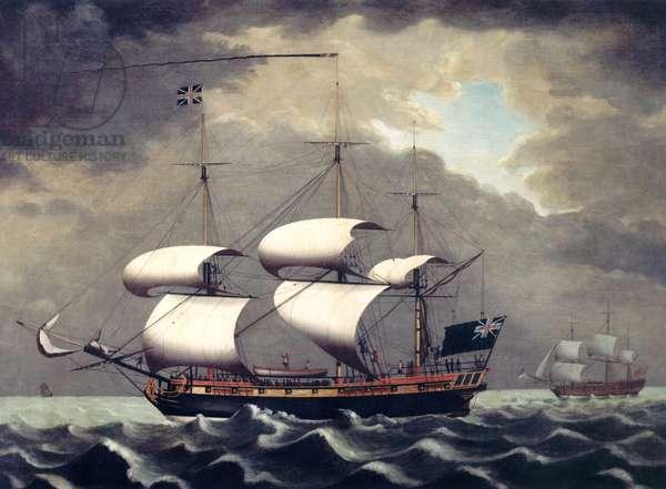Slave ship, c.1780 (oil on canvas)