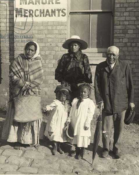 Three Generations of a Maori Family, c.1908 (silver gelatin print)