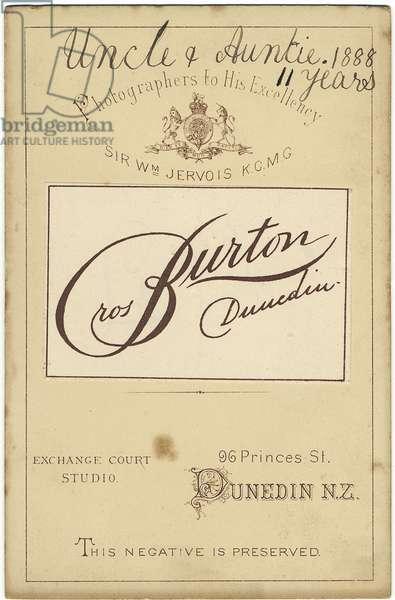 Cabinet Card, 1888 (card)