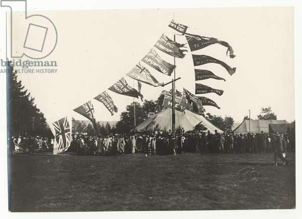 Maori Reception at Arawa Park, Rotorua, c.1925 (silver gelatin print)