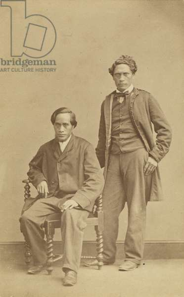 Raihana Tukarawa and Paratene te Manu, c.1863 (albumen print)