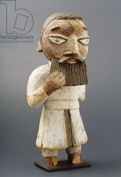 Figure of a European Priest, Yoruba, Nigeria, c.1920 (wood)