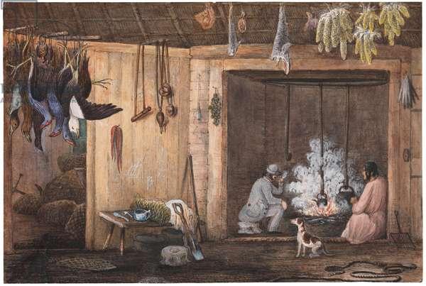 Winnig's, Wairau, N.Z., April 1851 (w/c on paper)