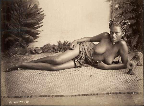Fijian woman (albumen print)