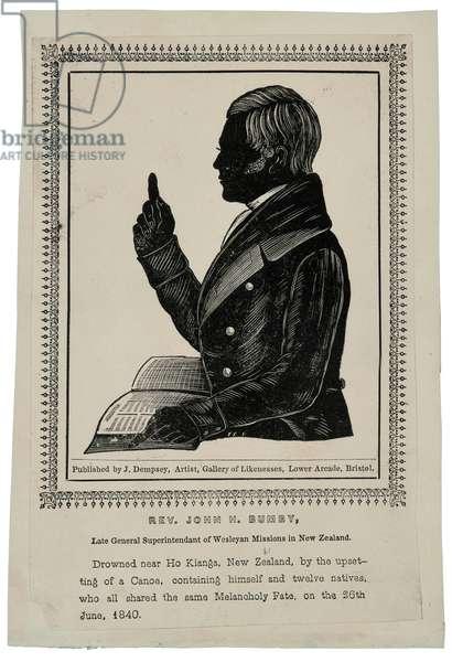 Rev. John H. Bumby, c.1840 (wood engraving)