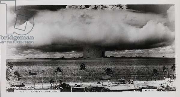 Mushroom Cloud - Bikini Atoll nuclear test, 25 July 1946 (gelatin silver print)