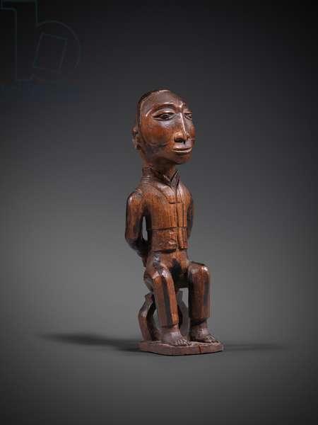 Seated figure, c.1900 (wood)