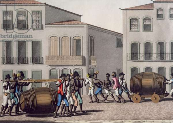 Blacks of Ganho, engraved by John Clarke, pub. by Thomas Mc Lean, 1822 (etching, engraving and aquatint with publisher's colouring)