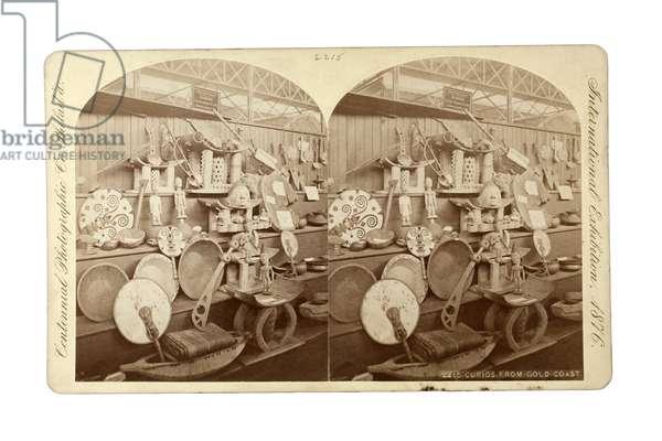 Curios from the Gold Coast, 1876 (albumen print)