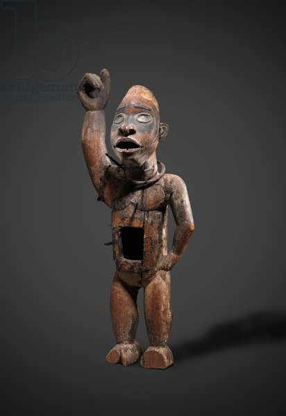 Nkisi (wood, iron & glass)