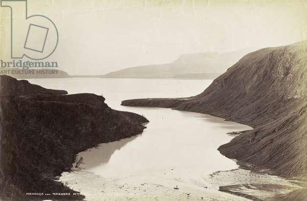 Wahanga and Tarawera Mountains, from Lake Tarawera, Octoner 1886 (albumen print)