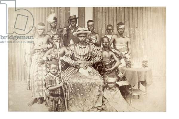 Nigerian chief, c.1890 (albumen print)