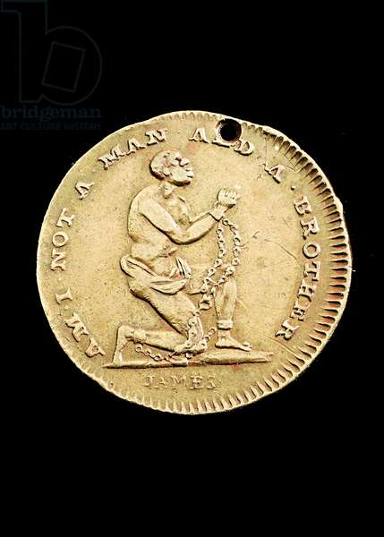 'Am I Not a Man and a Brother', abolitionist medal, 1790s (copper)