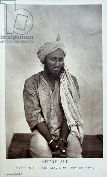 Shere Ali, Assassin of Earl Mayo, Viceroy of India (albumen print)