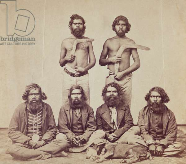 Aboriginal Men, c.1870 (albumen print)