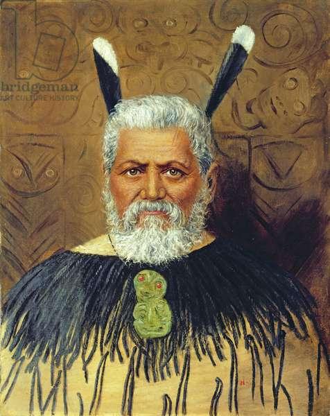 Portrait of a Maori, c.1890 (oil on canvas)