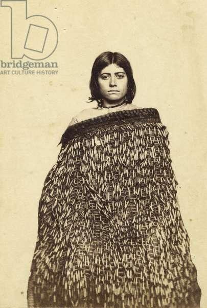 Mina Makata, Half Cast Maorie, c.1865 (albumen print and w/c)