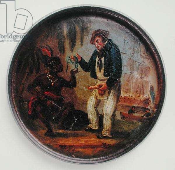 Trading for Sex, c.1820 (oil on papier mache)