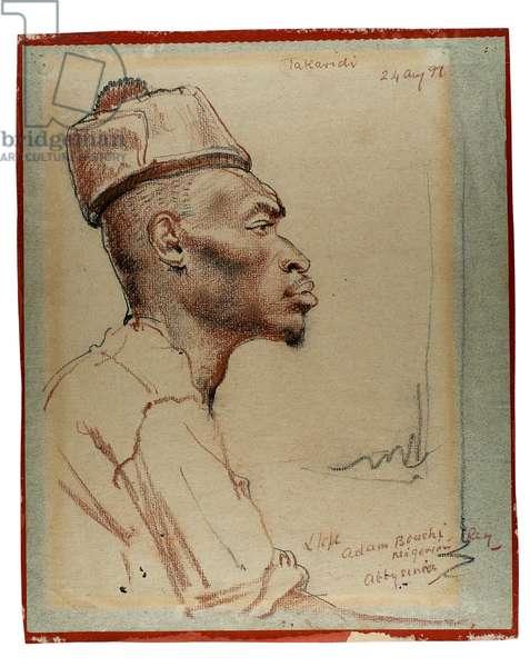 L/cpl. Adam Bouchi, Nigerian Regiment, Abyssinia, 1941 (crayon on paper)