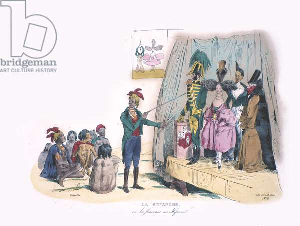 La Revanche, c.1830 (handcoloured litho)