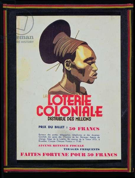 La Loterie Coloniale, c.1950 (colour litho)