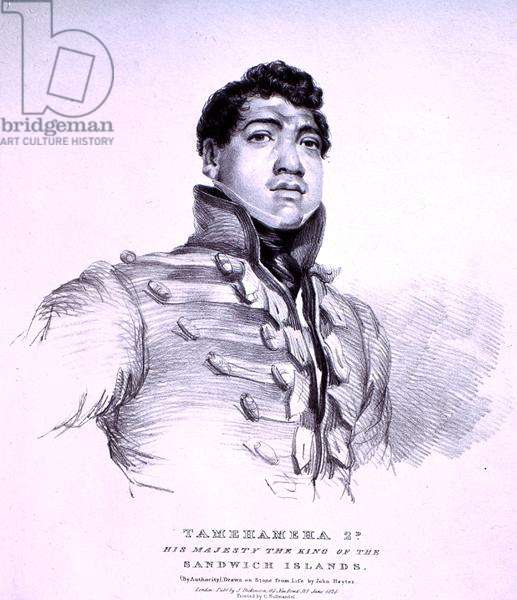 Tamehameha 2nd: His Majesty the King of the Sandwich Islands (litho)