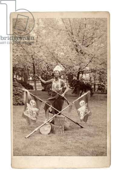 Ashanti Gruppe Vortrag, Germany 1890s (b/w photo)