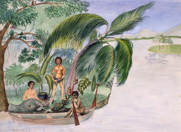Manati Hunt, 1867 (w/c on paper)