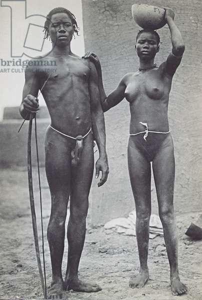 Boa Couple, c.1910 (b/w photo)