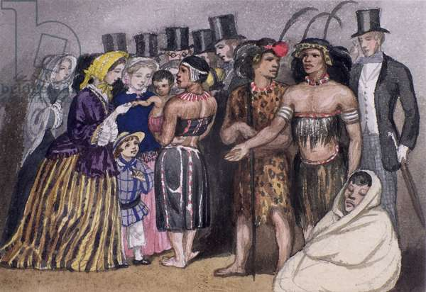 Meeting the Zulus in London, 1853 (w/c on paper)