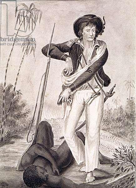 Captain John Gabriel Stedman (1744-97), c.1800 (pencil and wash on paper) (b/w photo)