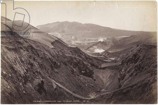 The Rent in Rotomahana from the Black Crater, November-December 1886 (albumen print)