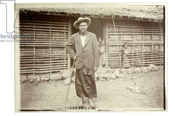 Mebe King, Soppo, Cameroon, early 1900s (gelatin silver print)